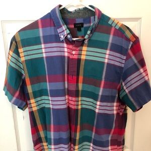 J. Crew Short Sleeve Sleeve Shirt Large